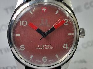 Vintage-Titus-Mechanical-Handwinding-Movement-Analog-Dial-Mens-Wrist-Watch-OG177