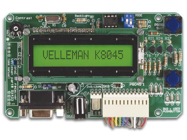 Velleman K8045 8 INPUT PROGRAMMABLE MESSAGEBOARD WITH LCD & SERIAL INTERFACE