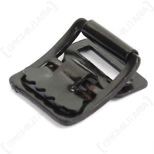 Equipment-Strap-Buckle-WW2-Repro-German-Black-Metal-Military-Army-Clip-New