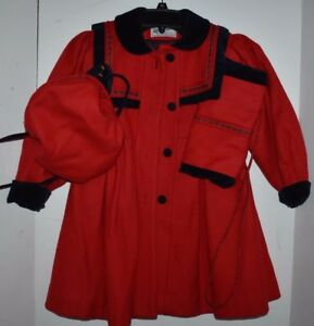 570867d5c391 Image is loading VTG-Girls-Size-5-Rothschild-Red-Wool-Velvet-. Image not  available Photos not available for this variation