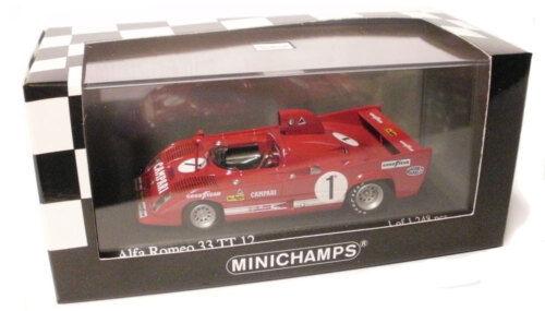 Minichamps Alfa Romeo 33 TT 12 WKRT Coppa Florio 1975 - Merzario Mass 1 43 Scale