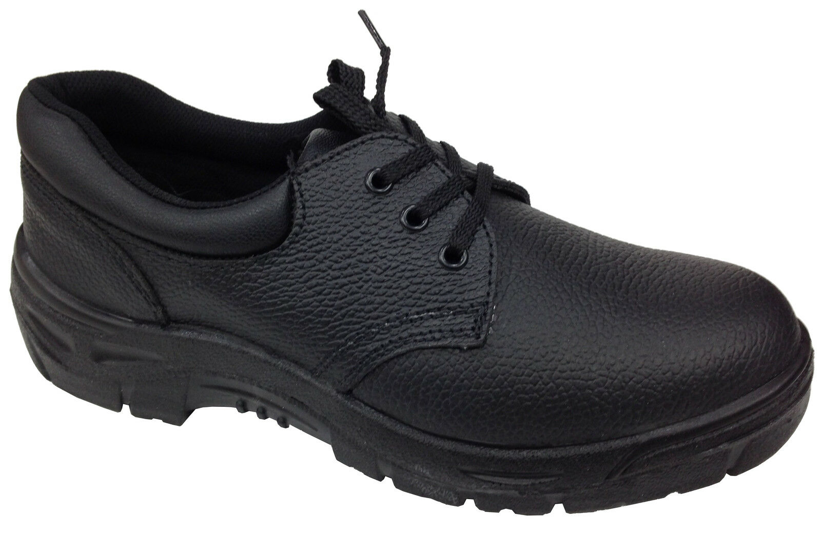 Nouveau Homme Cuir Véritable sécurité chaussures toe cap chaussures sécurité de travail anti choc antidérapante 0d00ce