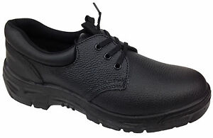 f6e7ceac7a8 Details about New Mens Genuine Leather Safety Toe Cap Work Shoes Anti Shock  Slip Resistant
