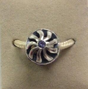 711b1eac0 Image is loading Chamilia-Blaze-Tanzanite-Purple-Swarovski -Bead-Sterling-Silver-