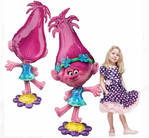 "DreamWorks Trolls Poppy Airwalker Foil Balloon Giant Gliding 58/"" Tall"