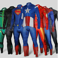 Hot Batman Costume Superman Spider-man Winter Soldier Cycling Jersey & Pant Set