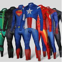 Hot Batman Costume Superman Spider-man Winter Soldier Cycling Jersey & Pant Set