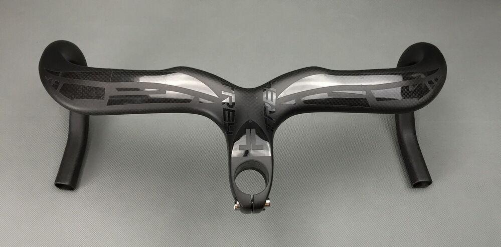 Carbon Integrated Bar  Stem TREH Drop bar Road Bicycle Racing 28.6mm bar