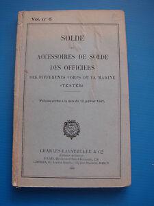 SOLDE-ET-ACCESSOIRES-DE-SOLDE-DES-OFFICIERS-1942-CORPS-DE-LA-MARINE-TEXTES