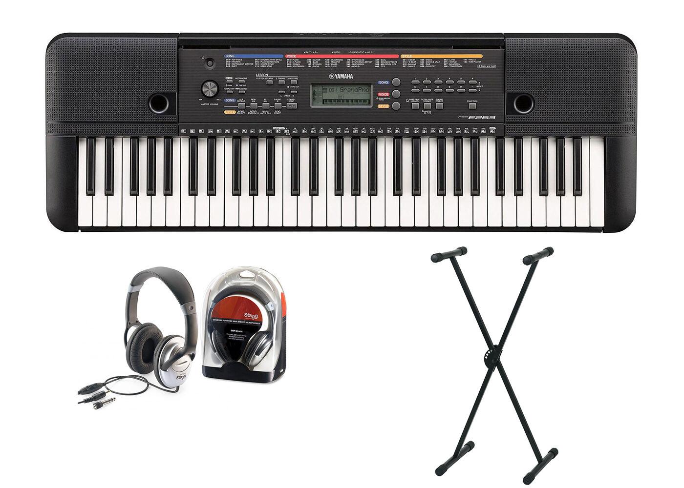 PSR-E263 Keyboard Set mit Ständer und Kopfhörer