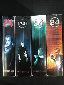 Details about 24 TV Series DVD Box Set Seasons 1,2,3,4 Kiefer Sutherland-  Like New