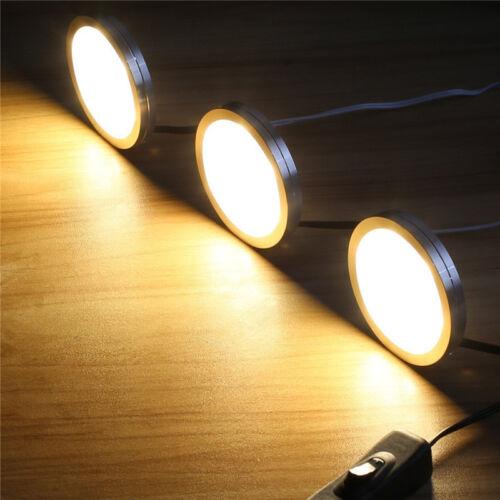 AIBOO 12V LED Under Cabinet Lights Under Counter Lighting Puck Lights Set of 3