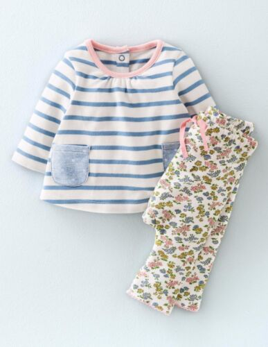 Baby /& Filles Nouveau ex Mini Boden Jersey Tunique//Robe Top Leggings//Pantalon Playset