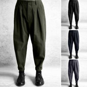 ZANZEA-Femme-Pantalons-Casual-en-vrac-Harlan-Style-Taille-elastique-Oversize