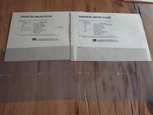 Spare-parts-catalogue-Microfiche-set-complete-Daihatsu-4x4-F70-F57-F80-F85