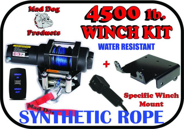 4500lb Mad Dog Winch Mount Combo Kubota 09-2016 RTV900//RTV1140
