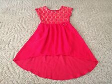 9380d4ff3e George Red Flocked glitter Holiday Dress Girls Size 7 for sale ...