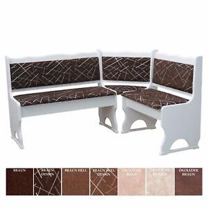eckbank kiefer weiss mit polsterung massivholz verschiedenen farben neu ebay. Black Bedroom Furniture Sets. Home Design Ideas