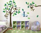 Cheeky Monkey on Large Tree Vinyl Wall Decals Art Stickers Kids Nursery Decor