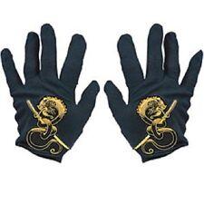 Ninja Gloves Black Gold Dragon Karate Dress Up Halloween Child Costume Accessory