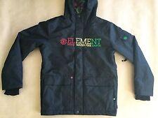 Element Boy's Winter Black Hoody Jacket Multi Pockets Size M