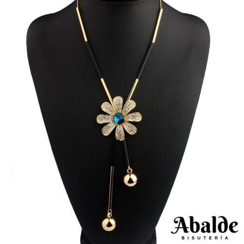 Collar Colgante Mujer Diseño Flor Bijoux Oro Joya Tendencia Regalo ideal Pareja