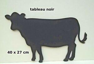 Au Bureau Vache Noir : Tableau noir en forme de vache décoration murale enfant maison