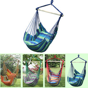 Image Is Loading Canvas Hammock Hanging Rope Swing Chair Seat Hammock