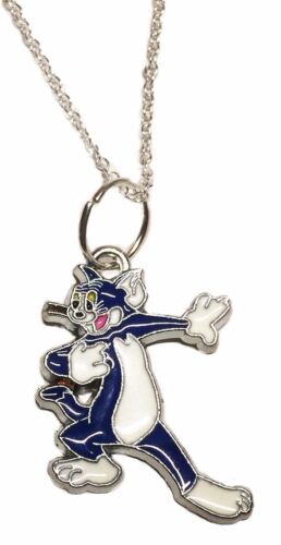 Tom /& Jerry Cartoon Tom Character Metal//Enamel Pendant with Chain