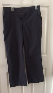 Sonoma-life-style-Petites-Womens-Black-Pinstriped-Bootcut-Casual-Pants-Size-10P