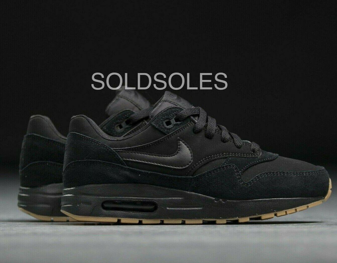 Nike Air Max 1 Negro goma Junior