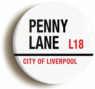 PENNY LANE L18 CITY OF LIVERPOOL BADGE BUTTON PIN (1inch/25mm diameter) 1960s