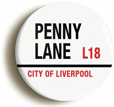 PENNY LANE L18 CITY OF LIVERPOOL BADGE BUTTON PIN (Size is 1inch/25mm diameter)