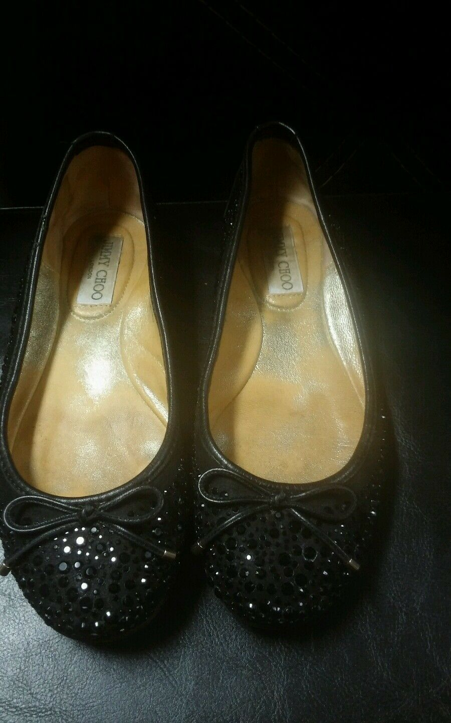 Jimmy Choo  Studded Jeweled Suede 36.5 Flats Size 36.5 Suede 5e38bc