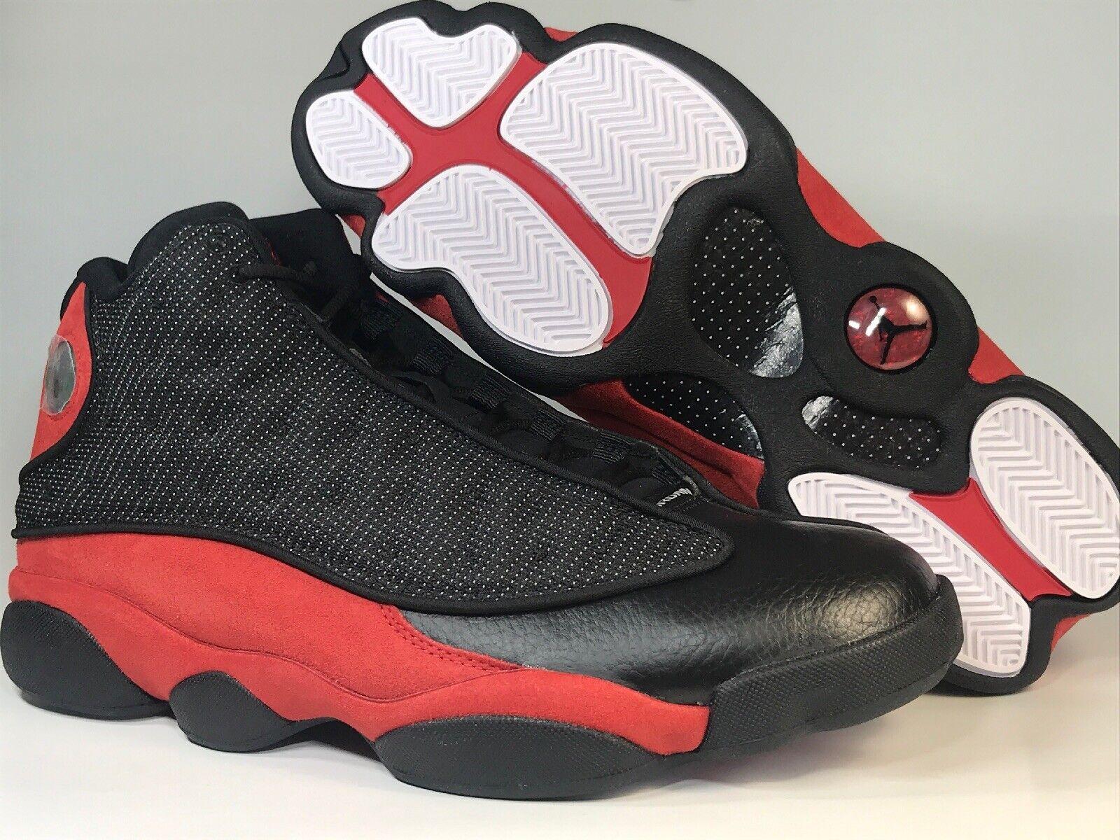 Nike Air Jordan Jordan Jordan 13 XIII Bred black red Size 11 retro og 2017 efafaa