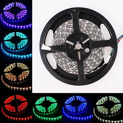 1M-5M 3528 5050 5630 SMD 300 LED White RGB Flexible Strip Light Waterproof Xmas