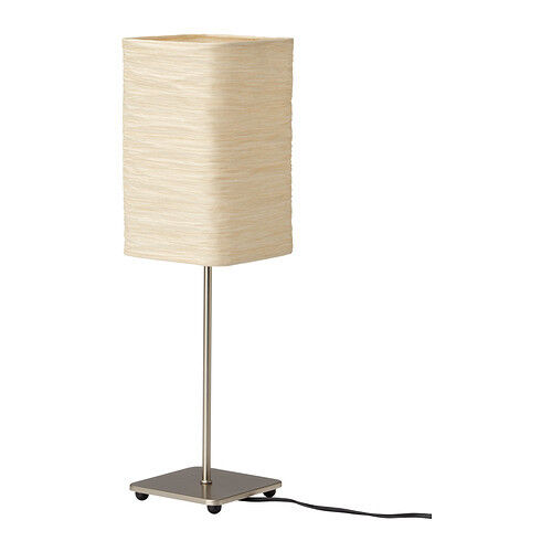 NEW IKEA MAGNARP TABLE LAMP NATURAL,GIVES A SOFT GLOWING LIGHT RICE PAPER SHADE