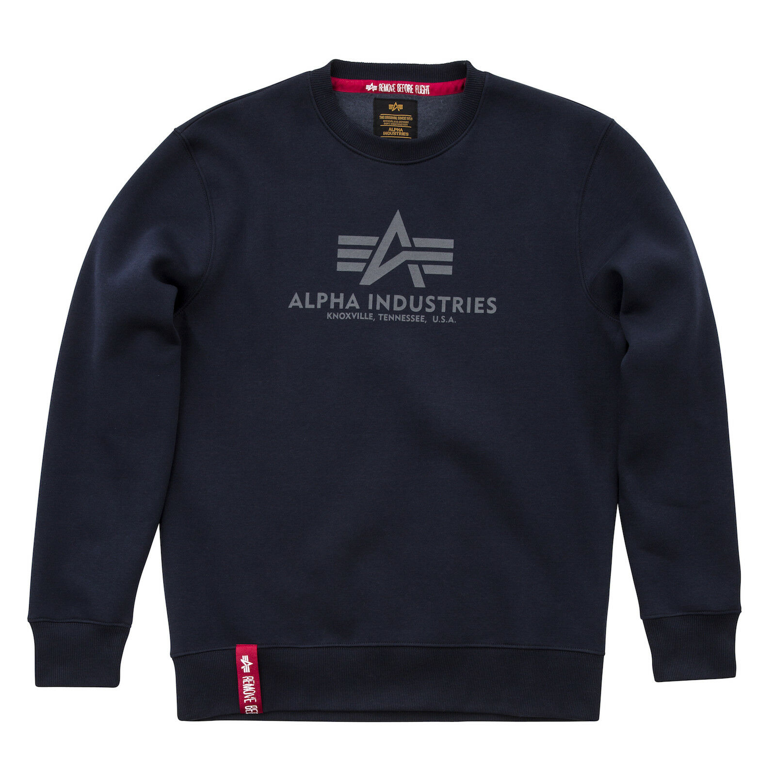 ALPHA INDUSTRIES Sweatshirt  Basic Sweater    Rep.Blau 07 (178302) classic Logo | Haltbar