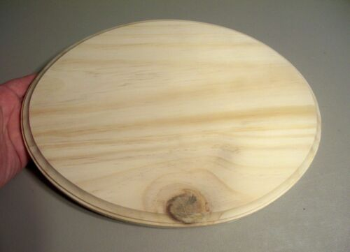 """M01210 MOREZMORE Unfinished 9/"""" x 12/"""" Oval Wood Base Wooden Plaque SECONDS"""