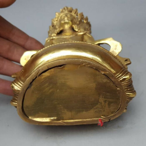 Buddhist brass VAIROCANA Herr der Mitte buddha statue