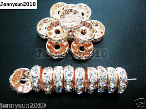 100pcs-Czech-Crystal-Rhinestone-Rose-Gold-Rondelle-Spacer-Beads-5mm-6mm-8mm-10mm