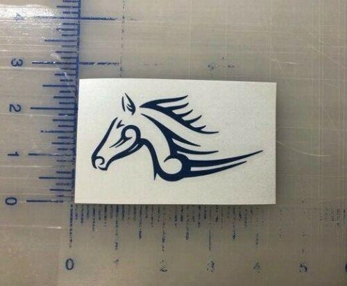 "Horse Decal 3.5/"" 4.5/"" 5.5/"" Equestrian Vinyl Equine Tribal Stallion Window Bumper"