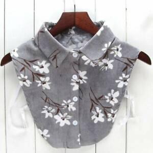 Women-False-Collar-Fake-Half-Shirt-Blouse-Detachable-Collar-Choker-JA