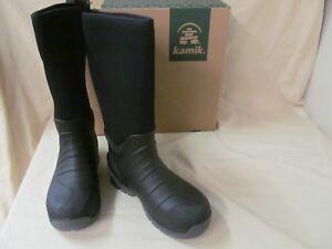 bd48a63f9fe Details about Kamik Men's Sz 12 Bushman Insulated Waterproof Comfort Rubber  Work Boots Black