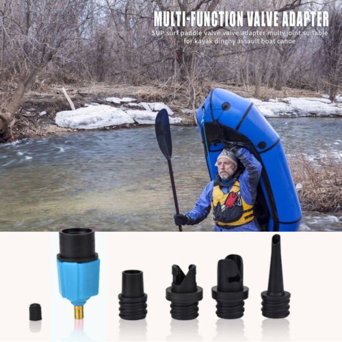 Sup//Kayak //Rubber Boat Inflatable Pump Adapter Air Valve Tire Compressor Adaptor