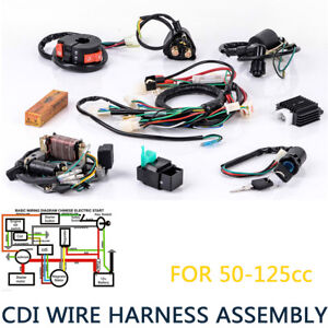 Details about CDI Wire Harness Stator embly Wiring Fit ATV Electric on