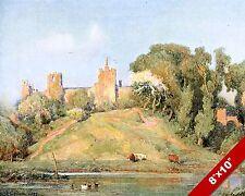 FRAMLINGHAM CASTLE SUFFOLK ENGLAND ENGLISH LANDSCAPE ART PAINTING CANVAS PRINT