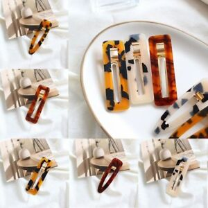 New-Resin-Leopard-Amber-Drop-Hair-Clip-Accessory-Transparent-Ponytail-Holder