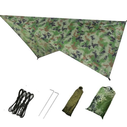 Tent Sheet Canopy Hammock Rain Cover Camping Shelter Hiking W// Mount Waterproof
