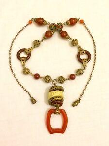Fantastic-Vintage-Original-Art-Deco-Czech-Bead-Necklace-Excellent-Condition